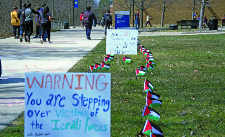 Arab Student Union creates street art protest at U of M-Dearborn