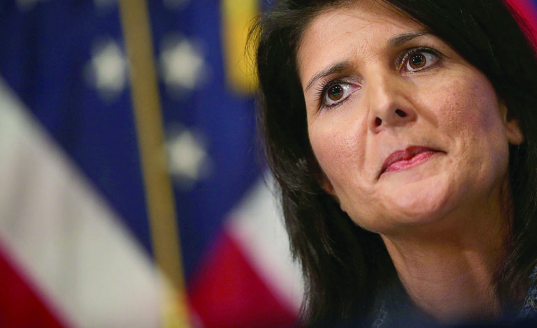 This time, Nikki Haley spits on the entire world