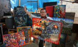 Gaza artist takes on Trump despite disabilities