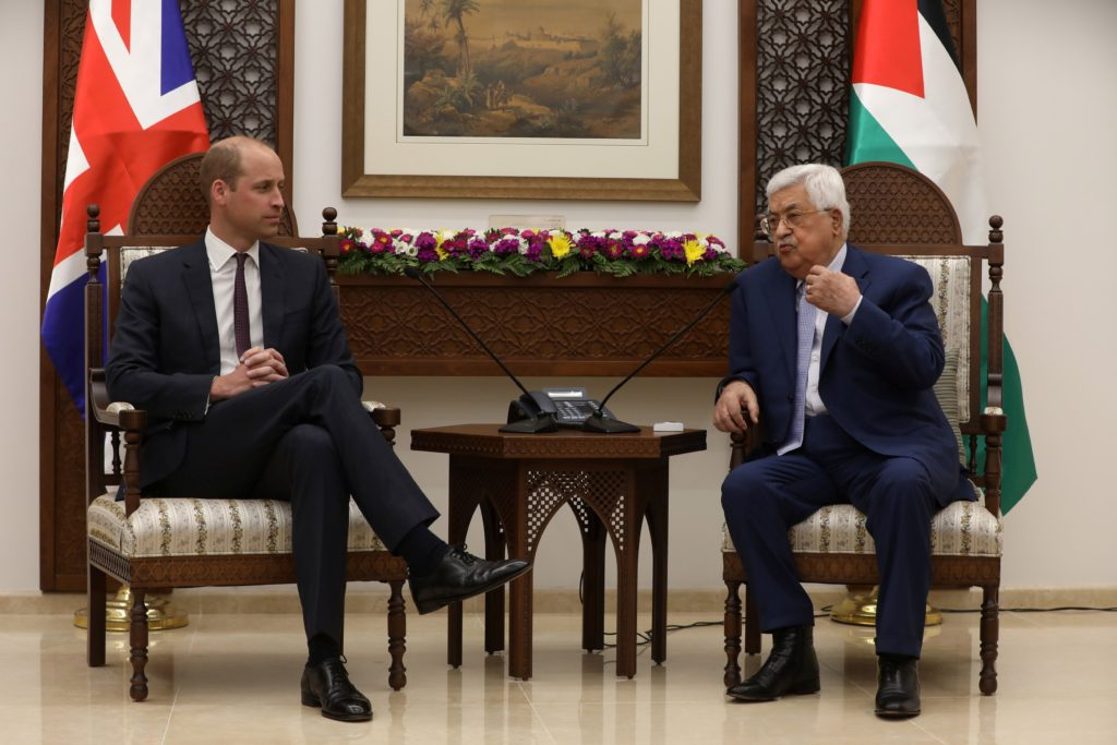 Abbas with Prince William