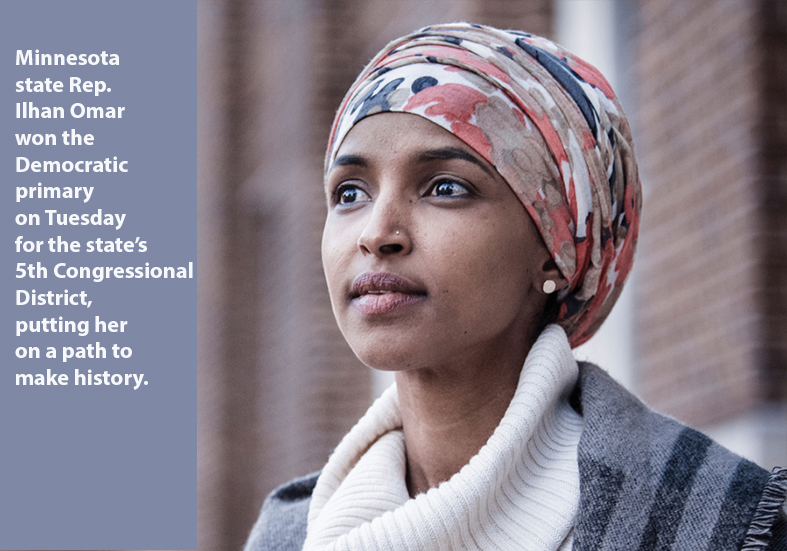 Ilhan Omar wins Democratic Primary for Congress in ...Ilhan Omar Primary