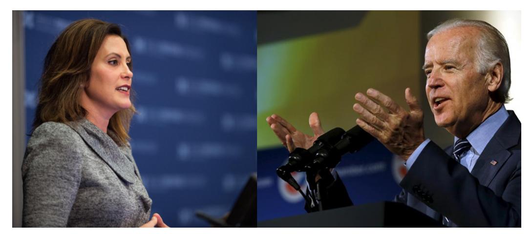 Joe Biden endorses Whitmer for Michigan's governor