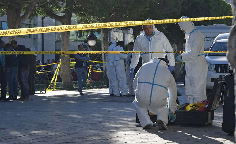 Woman blows herself up in central Tunis; nine wounded