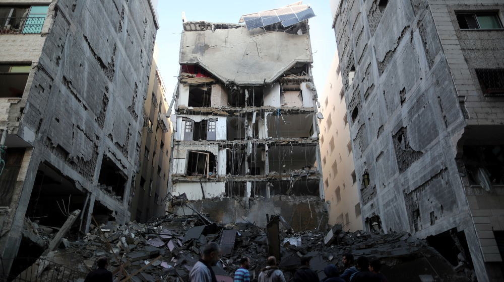 Ahmed Nasser: 'We had no idea this building would ever become a target' [Suhaib Salem/Reuters]