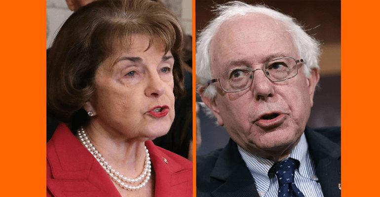 Senators Sanders and Feinstein oppose pending bill criminalizing boycotts of Israel
