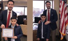Arab American elementary student visits Lansing as legislator for the day