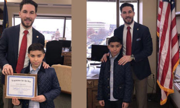 Arab American elementary student visits Lansing as legislator for the day
