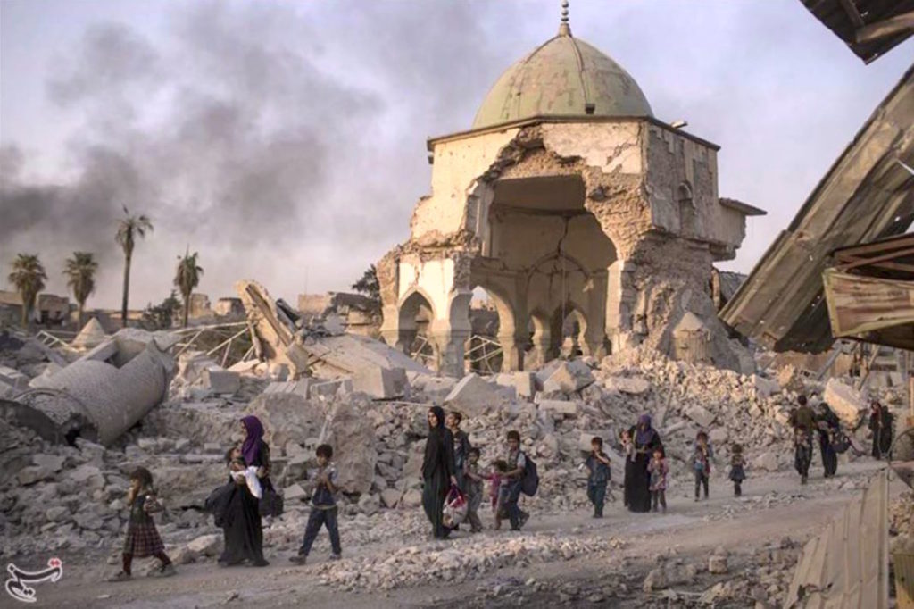 Mosul's Great Mosque of Al-Nuri and its iconic leaning minaret was ravaged in 2018 during battles to retake the Iraqi city from militants