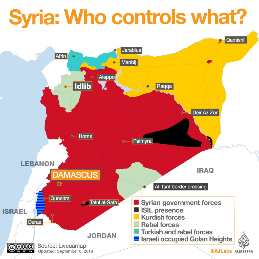 Syria: Who controls what as of September 2018