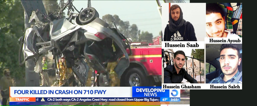 Four Arab Americans killed in a car crash on a California freeway