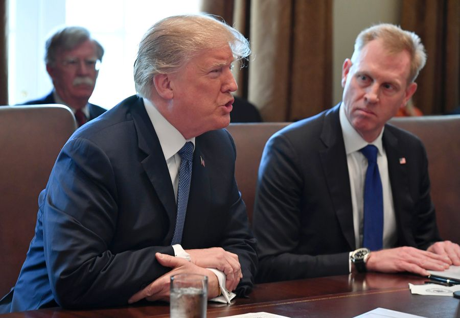 Trump with his Acting Defense Secretary Patrick Shanahan