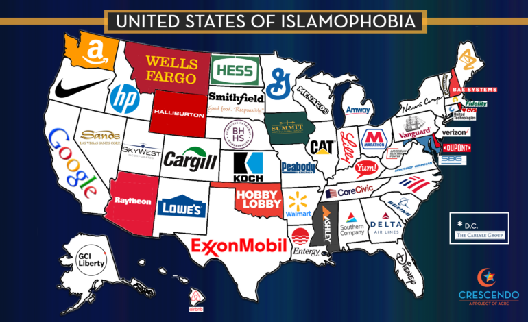 Report finds nation's wealthiest corporations connected to anti-Muslim organizations, candidates and policies
