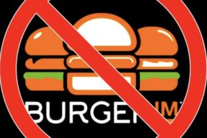 The Boycott Burgerim graphic seen on comedian and activist Amer Zahr's blog
