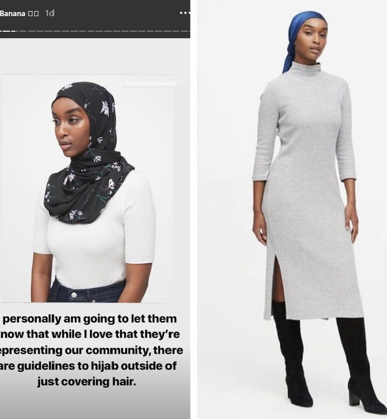 Banana Republic questioned over portrayal of new line of hijabs