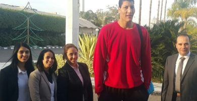 """Egyptian player (and 7-foot-7 """"Giant"""") turning heads in African Basketball League"""