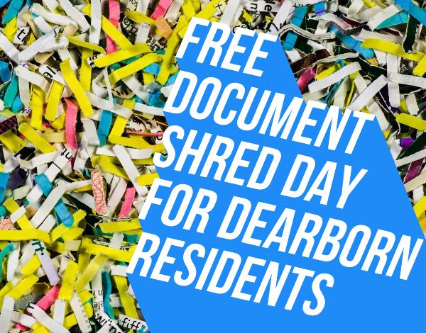 Free document shredding for Dearborn residents