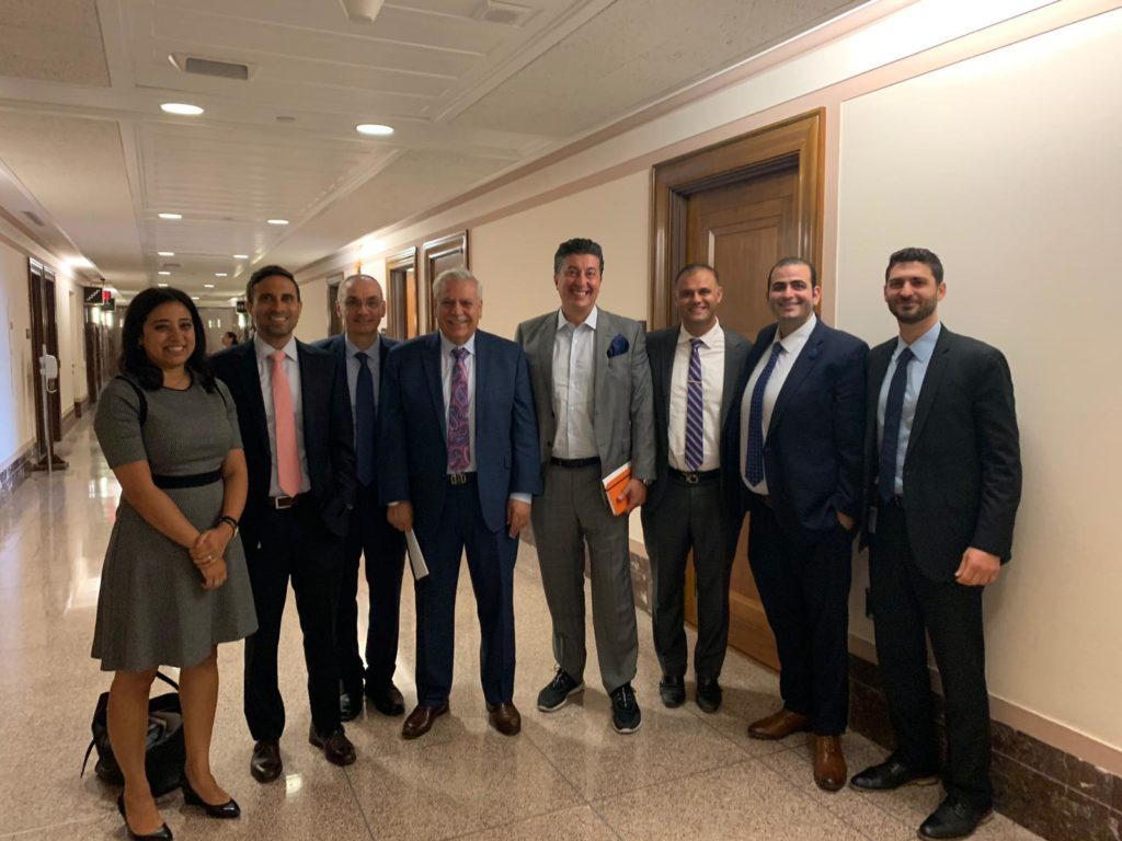 Arab American represetatives in a group photo after three back-to-back meetings with federal law enforcement officials from DHS, TSA and CBP in Washington, D.C. in the U.S. Senate building, on Thursday, August 15. Photo by The Arab American News