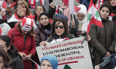 Dearborn protesters rally for change in Lebanon and in support of the uprising