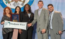 Dearborn Public Schools representatives accept national Blue Ribbon Award