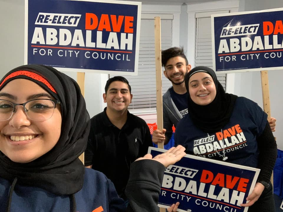 Volunteers for Dave Abdallah's campagin. - Photo courtesy of Dave Abdallah campagin