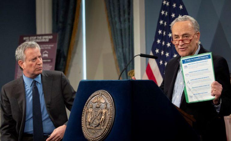 Senate awaits House coronavirus bill as Schumer urges $750 billion more to address crisis