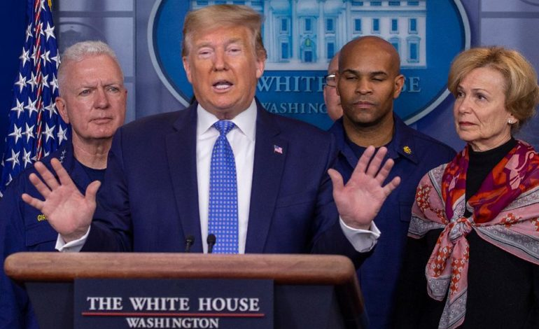 Trump signs aid package offering paid sick leave for coronavirus; end to foreclosures and evictions announced through April