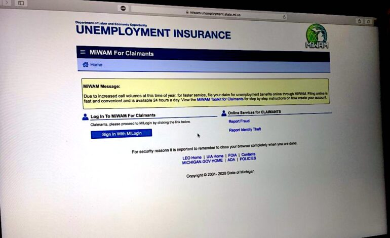 Unemployed Michigan workers to receive $300 payments over next week to 10 days