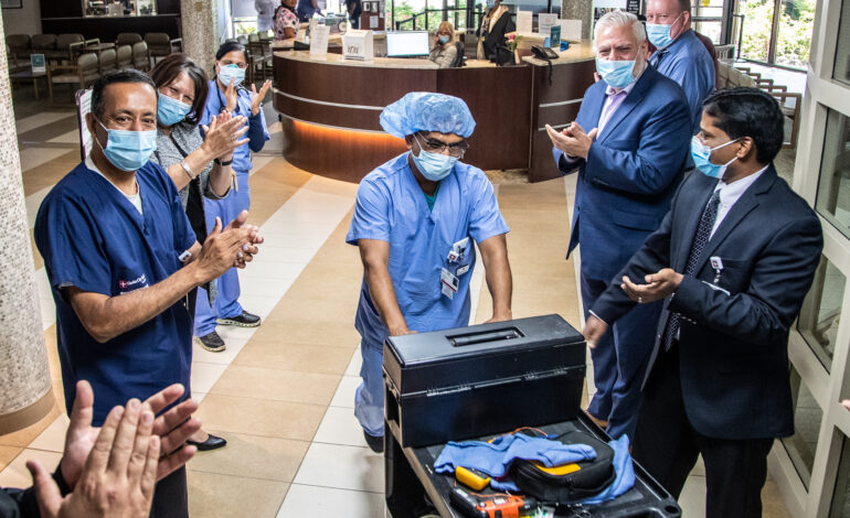 Garden City Hospital staff celebrated, attendants take knee for racial equality and George Floyd