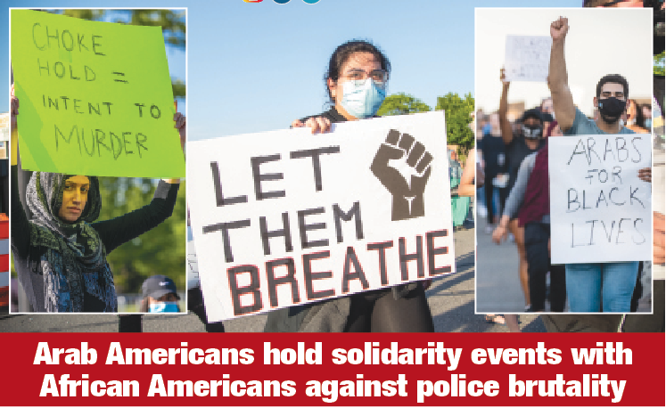 Arab Americans hold solidarity events for African Americans  as protests against police brutality intensify