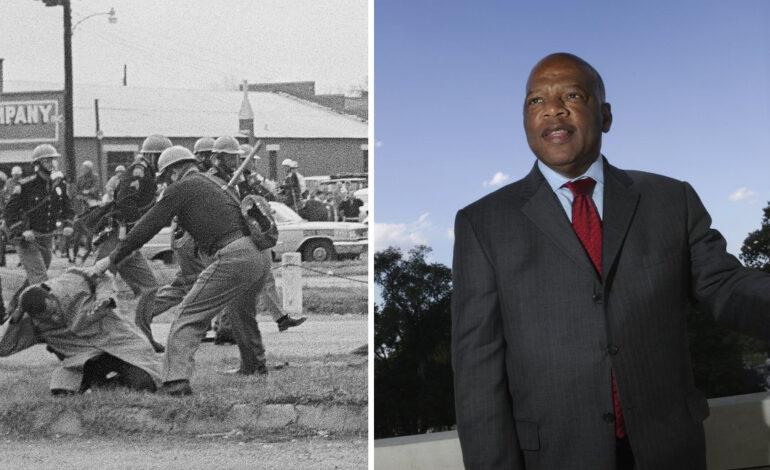 John Lewis, U.S. congressman and sharecropper's son, was civil rights hero