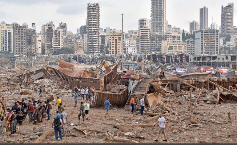 """Gazing over wasteland, Beirutis mourn lost """"Lady of the World"""""""
