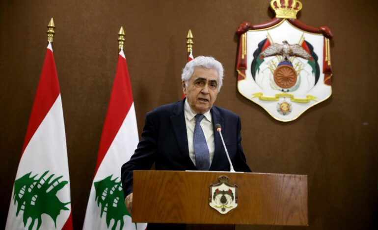 Lebanese foreign minister quits over slow reforms, Aoun adviser takes over