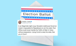 Trump threatens to sue the state of Nevada over mail-in ballots