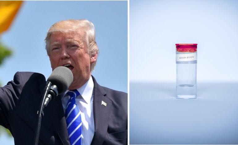 Trump says coronavirus vaccine possible around Nov. 3 election