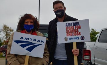 Amtrak employees host rally in Dearborn as cuts quickly approach