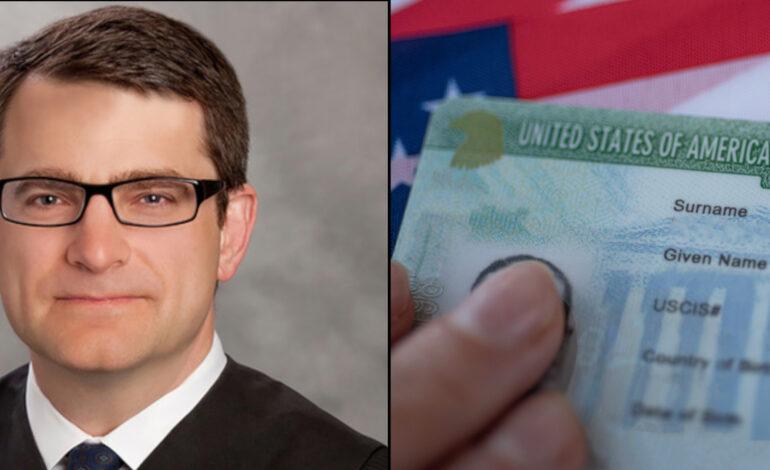Federal Judge blocks President Trump's rule designed to stop immigrants seeking Green Cards