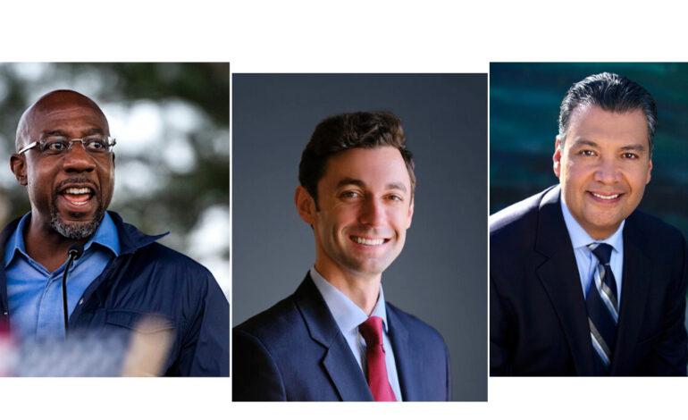 Democrats take narrow control of U.S. Senate as three new members sworn in