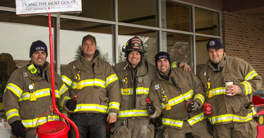 Fire department recognized for years of support to the Salvation Army