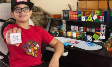 Dearborn student takes social media by storm with Rubik's Cube art