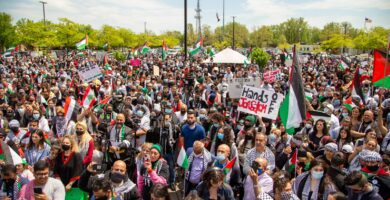 """""""We Are Seeds"""": Over ten thousand local residents protest Israeli murderous campaign against Palestine"""