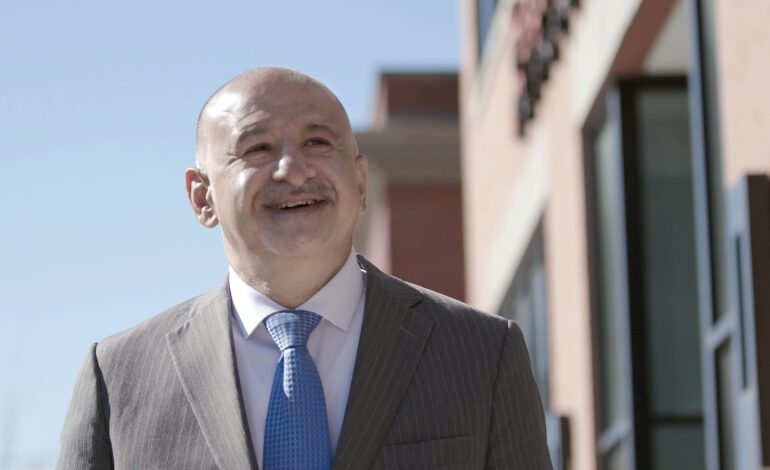 Hussein Berry campaigning for Dearborn mayor, with focus on public safety