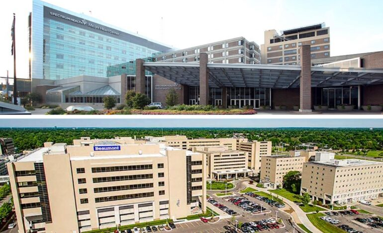 Beaumont and Spectrum Health plan merger to form Michigan's largest health system