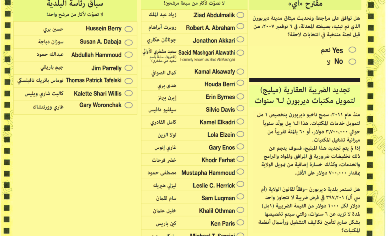 City of Dearborn to offer Arabic translations for August 3 primary, bilingual ballots