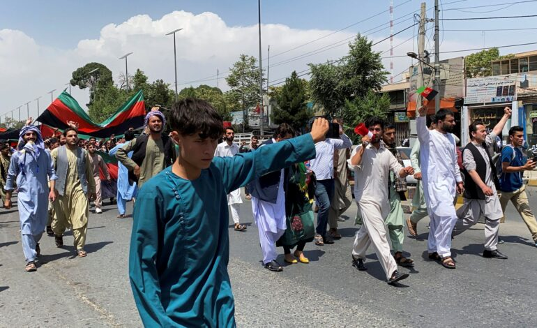 Taliban urges Afghan unity as protests spread to Kabul