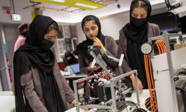 All-female Afghan robotics team evacuated to Qatar, receives scholarships to continue education
